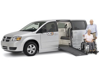 Hire Dodge Grand Caravan with Ramp - Rent Dodge Dubai - Special Needs Car Rental Dubai Price