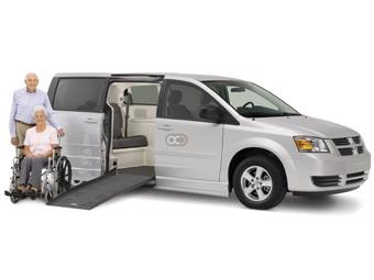 Dodge Grand Caravan with Ramp Price in Dubai - Special Needs Hire Dubai - Dodge Rentals