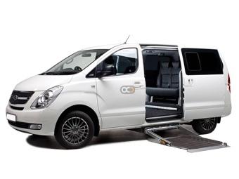 Hyundai H1 with Hydraulic Lift Price in Dubai - Special Needs Hire Dubai - Hyundai Rentals