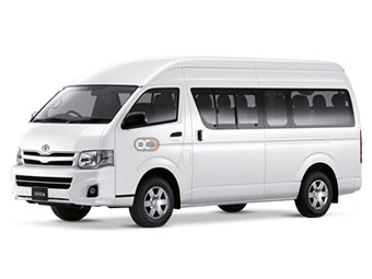 Toyota Hiace 13 Seater Price in Abu Dhabi - Commercial Hire Abu Dhabi - Toyota Rentals