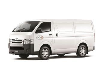 Hire Toyota Hiace Chiller Van - HR - Rent Toyota Abu Dhabi - Commercial Car Rental Abu Dhabi Price