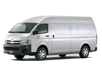 Hire Toyota Hiace High Roof Cargo - Rent Toyota Abu Dhabi - Commercial Car Rental Abu Dhabi Price