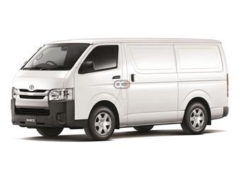 Toyota Hiace std Roof Cargo Price in Fujairah - Commercial Hire Fujairah - Toyota Rentals