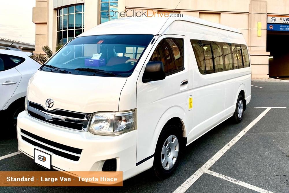Hire Toyota Hiace Van Rental Dubai