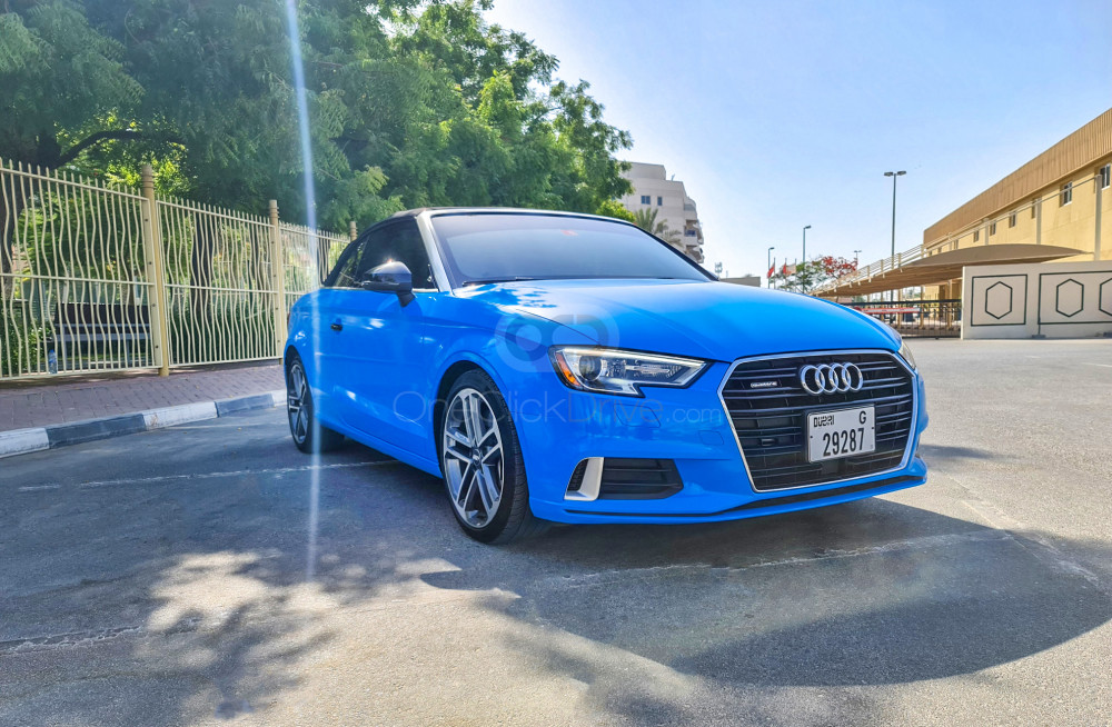 Rent Audi A3 Convertible in Dubai - Convertible Car Rental