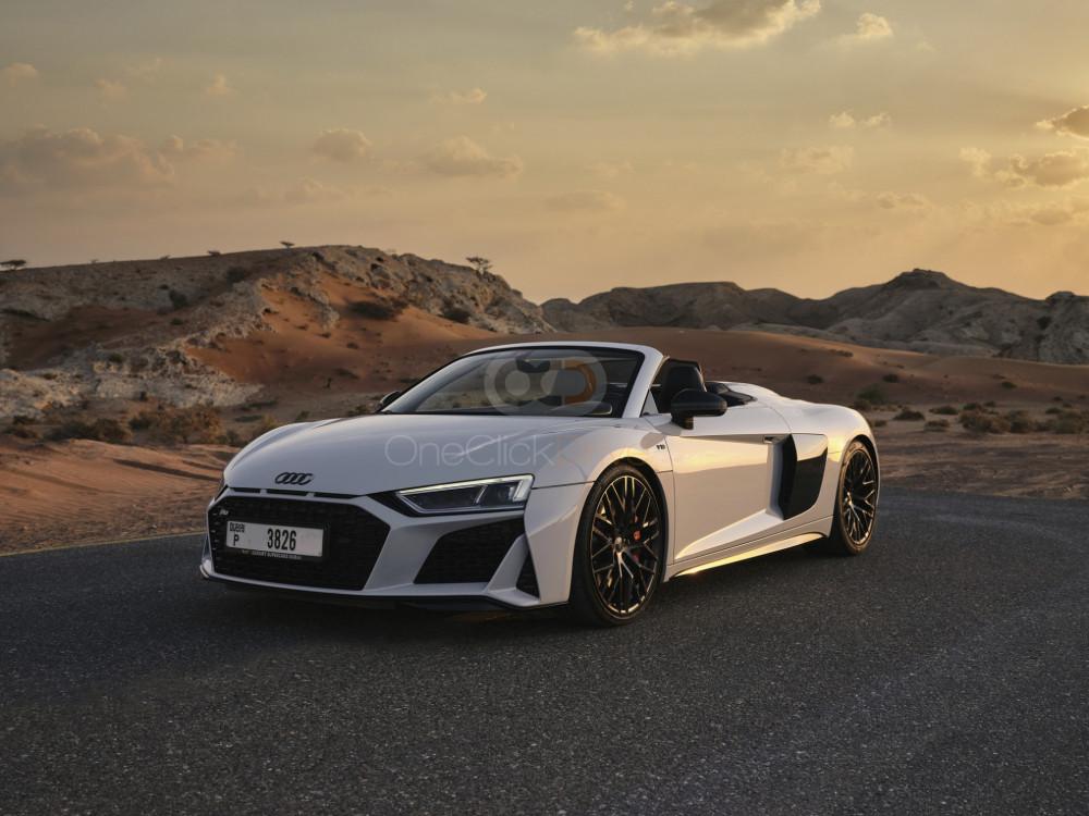 Rent Audi R8 V10 Spyder in Dubai - Sports Car Car Rental