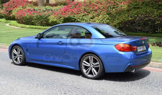 Book BMW 420i Convertible 2017 in Dubai