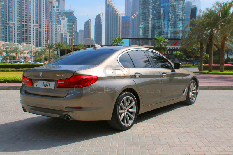 Book BMW 520i 2019 in Dubai