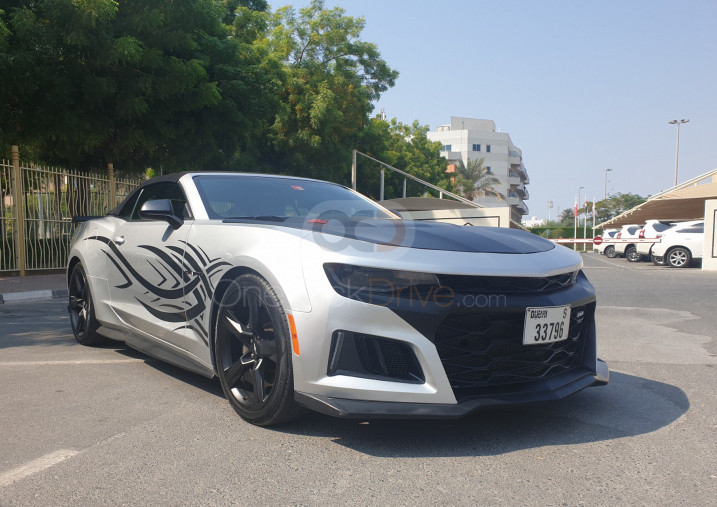 Rent Chevrolet Camaro SS V8 Convertible in Dubai - Sports Car Car Rental