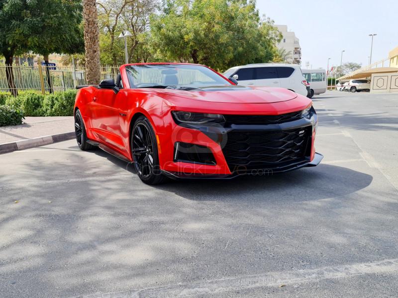Rent Chevrolet Camaro Convertible ZL1 V8 in Dubai - Muscle Car Rental