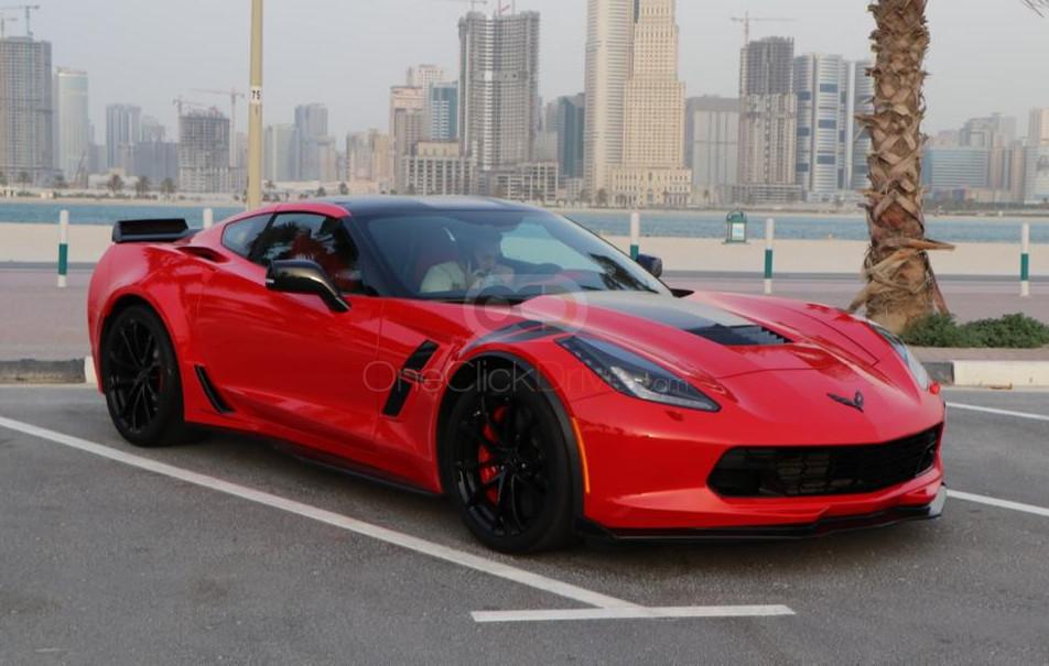 Rent 2019 Chevrolet Corvette Grand Sport in Dubai UAE
