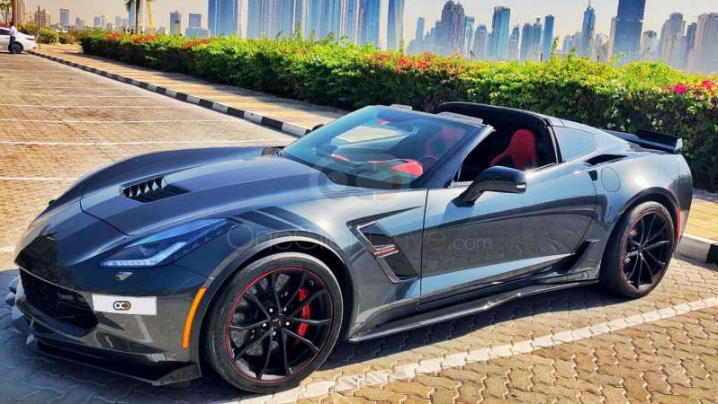 Rent Chevrolet Corvette Grand Sport in Dubai - Sports Car Car Rental