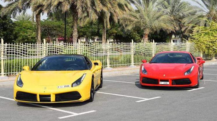 Book Ferrari 488 GTB 2016 in Dubai