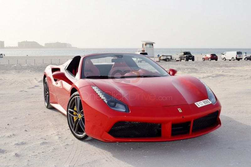 Rent Ferrari 488 Spider in Abu Dhabi - Sports Car Car Rental