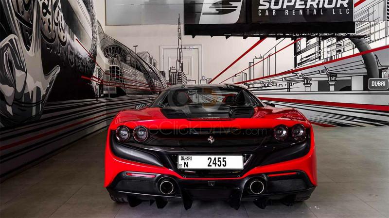 Book Ferrari F8 Tributo Spider 2021 in Dubai