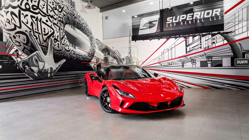 Rent Ferrari F8 Tributo Spider in Dubai - Sports Car Car Rental