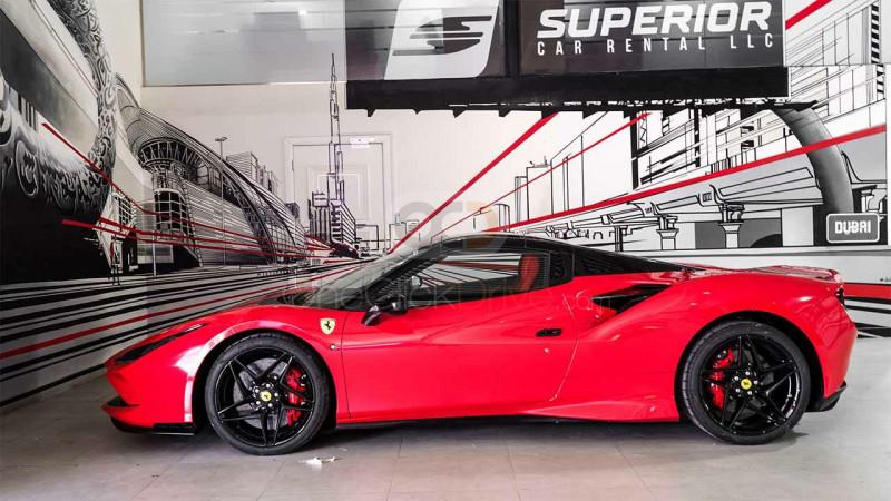 Rent 2021 Ferrari F8 Tributo Spider in Dubai UAE