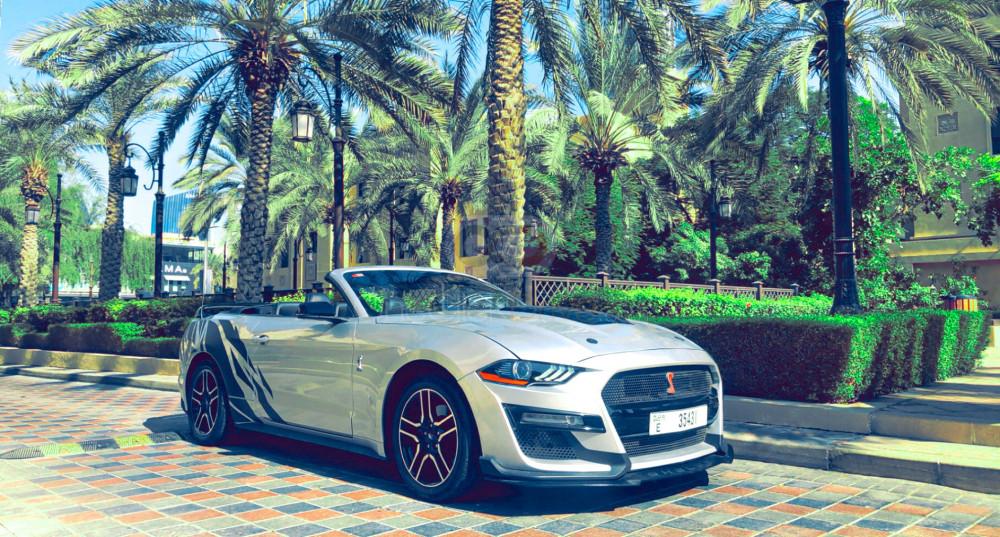Rent Ford Mustang Convertible V6 in Abu Dhabi - Sports Car Car Rental
