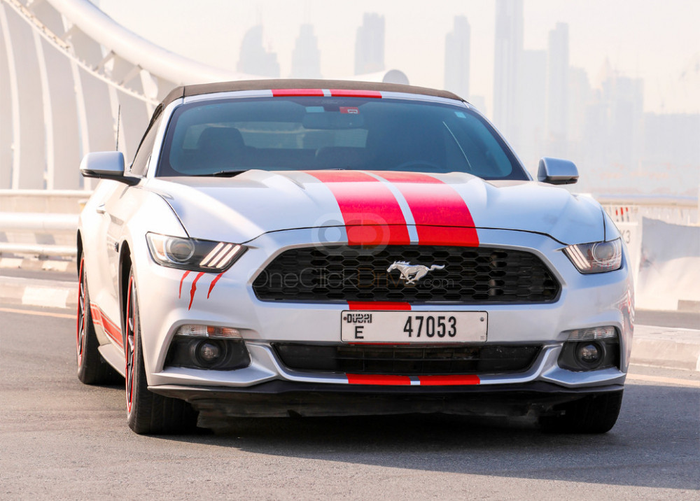 Rent Ford Mustang EcoBoost Convertible in Dubai - Sports Car Car Rental