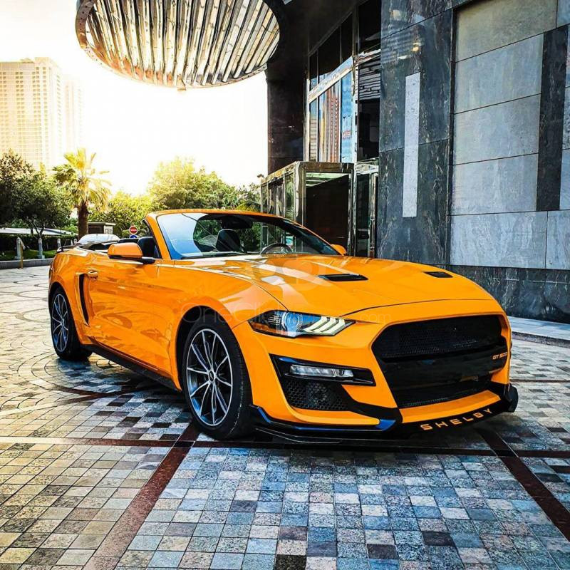 Rent Ford Mustang EcoBoost Convertible in Sharjah - Sports Car Car Rental