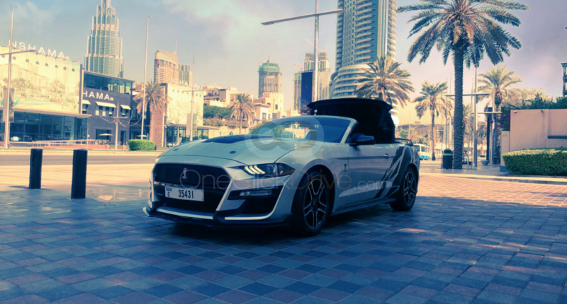 Rent 2020 Ford Mustang V6 Convertible in Dubai UAE