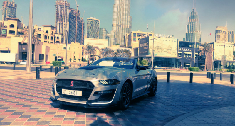 Book Ford Mustang V6 Convertible 2020 in Dubai