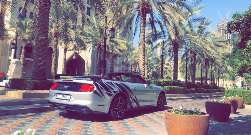 Hire Ford Mustang V6 Convertible - Sports Car Dubai