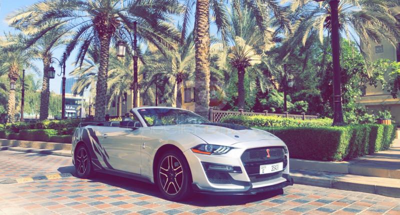 Rent Ford Mustang V6 Convertible in Dubai - Sports Car Car Rental