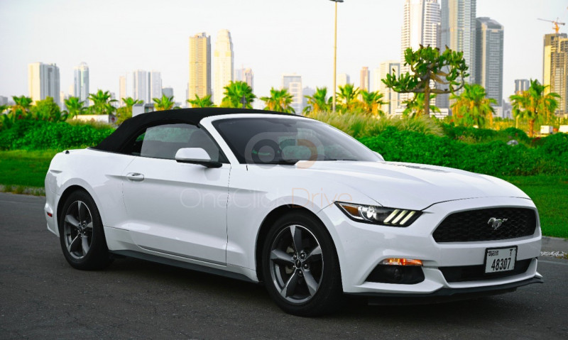 Rent Ford Mustang Convertible V6 in Dubai - Sports Car Car Rental