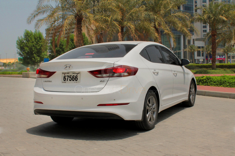 Rent 2018 Hyundai Elantra in Sharjah UAE
