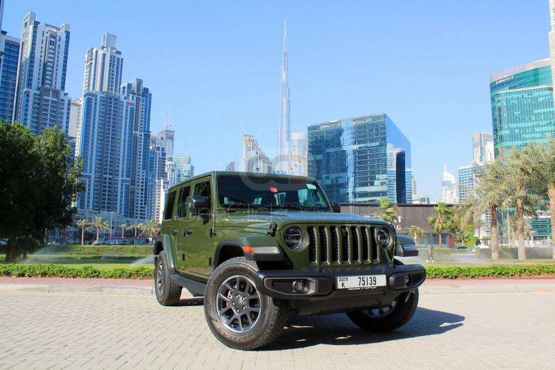 Rent Jeep Wrangler 80th Anniversary Limited Edition in Dubai - SUV Car Rental