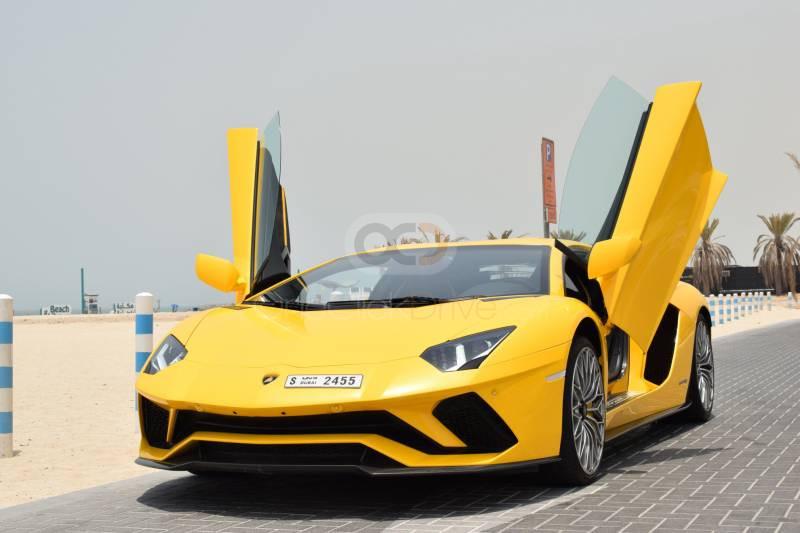 Rent Lamborghini Aventador S Coupe LP740 in Sharjah - Sports Car Car Rental
