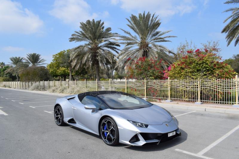 Rent Lamborghini Huracan Evo Spyder in Dubai - Supercar Car Rental