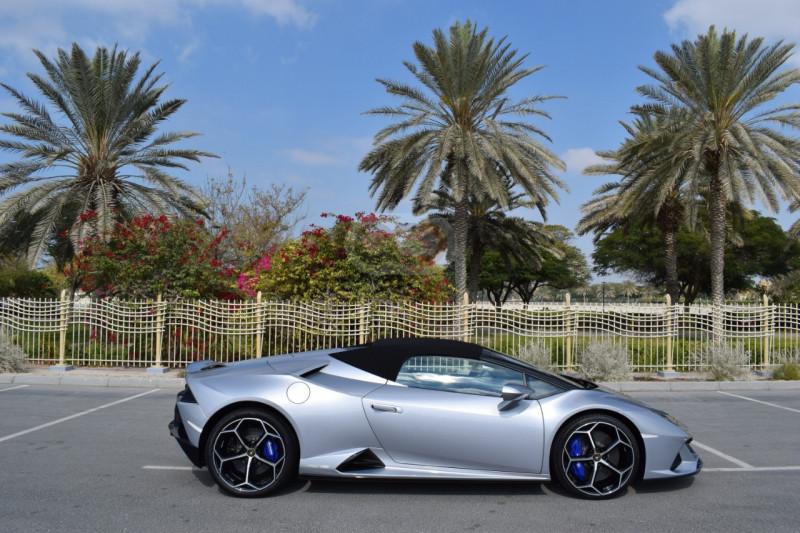 Rent 2021 Lamborghini Evo Spyder in Dubai UAE
