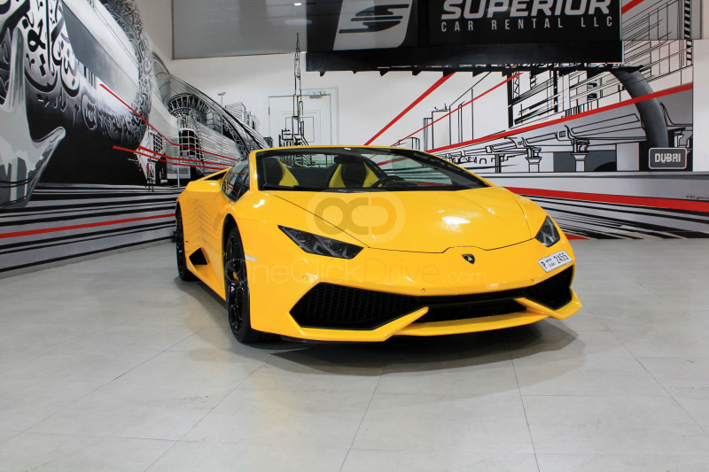 Rent Lamborghini Huracan Spyder LP610 in Abu Dhabi - Sports Car Car Rental