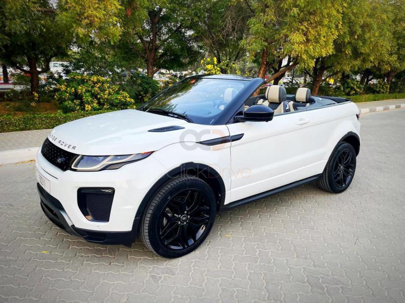 Rent Land Rover Range Rover Evoque Convertible in Dubai - Convertible Car Rental