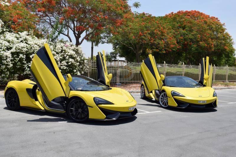Rent McLaren 570S Spyder in Abu Dhabi - Sports Car Car Rental