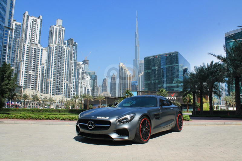 Rent Mercedes Benz AMG GTS in Dubai - Sports Car Car Rental