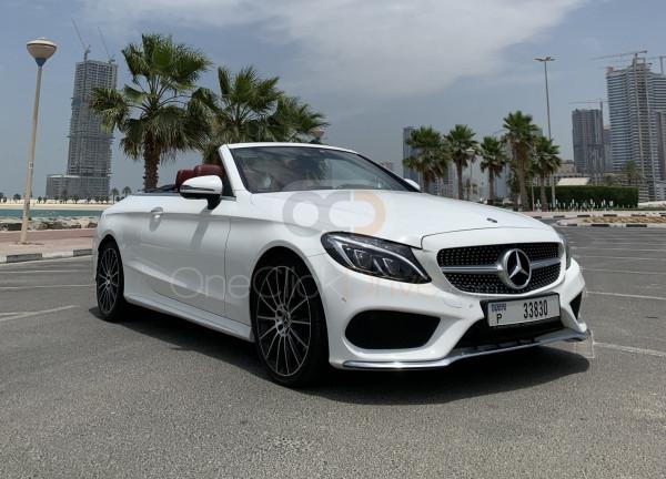 Rent Mercedes Benz C200 Cabriolet in Dubai - Convertible Car Rental