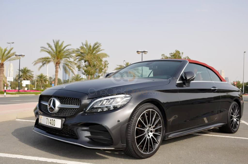 Rent Mercedes Benz C200 Convertible in Dubai - Convertible Car Rental