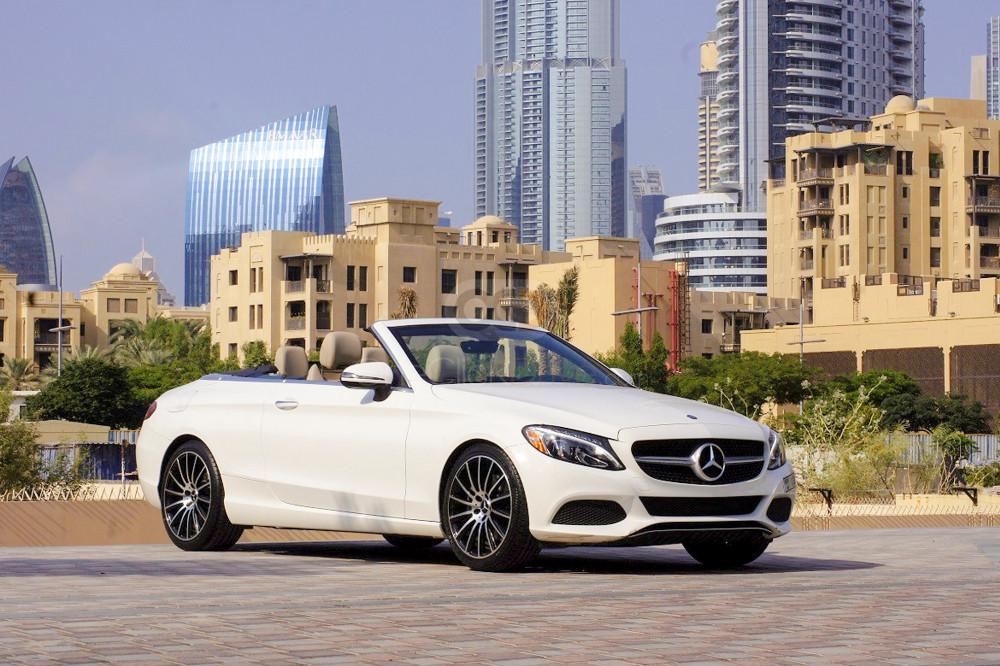 Rent Mercedes Benz C300 Convertible in Dubai - Convertible Car Rental