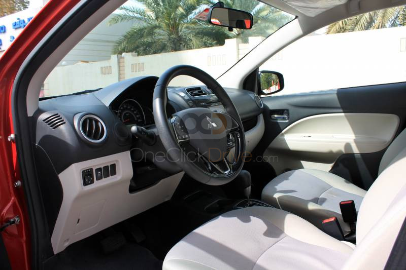 Rent 2019 Mitsubishi Attrage in Dubai UAE