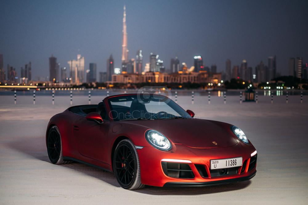 Rent Porsche 911 Carrera GTS Spyder in Dubai - Convertible Car Rental