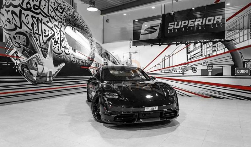 Rent Porsche Taycan Turbo in Dubai - Electric Car Rental