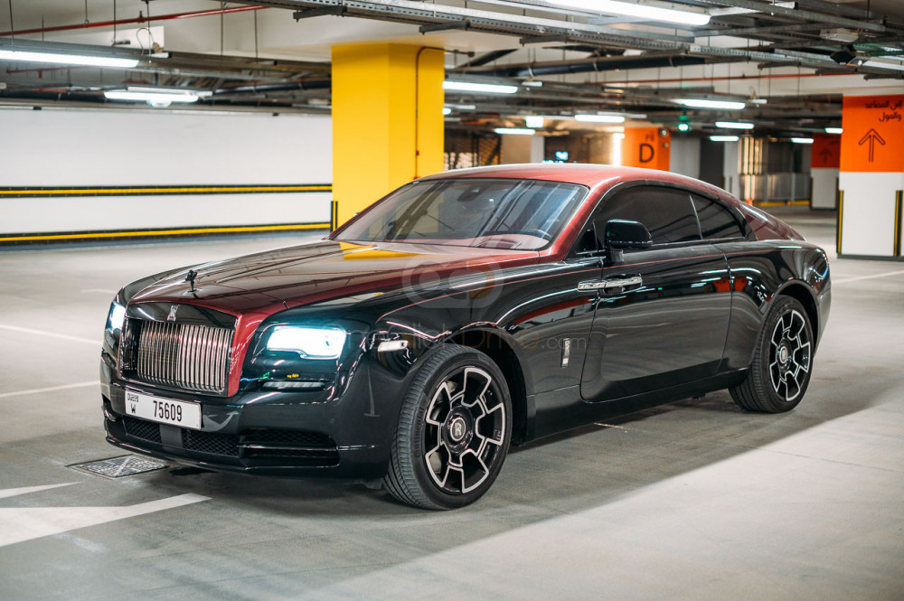 Rent Rolls Royce Wraith Black Badge in Dubai - Luxury Car Car Rental