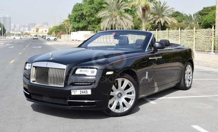 Rent Rolls Royce Dawn in Abu Dhabi - Convertible Car Rental
