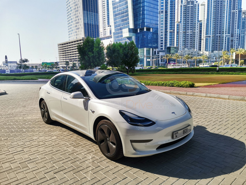 Rent Tesla Model 3 in Dubai - Electric Car Rental