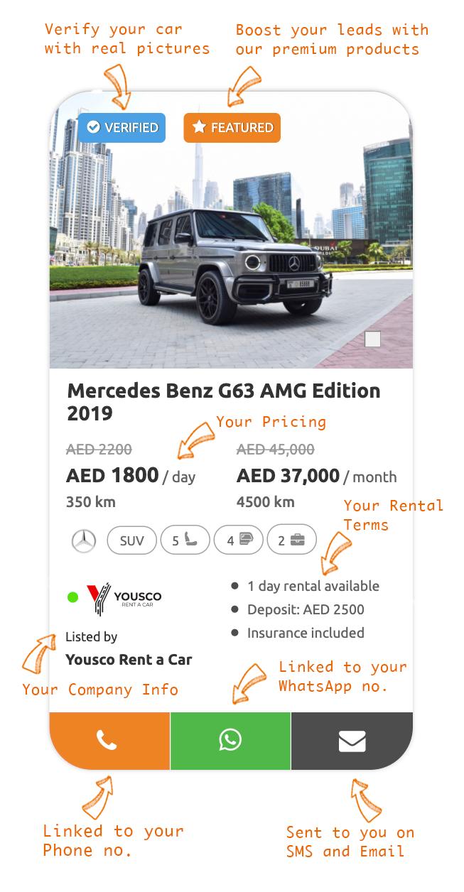 List your cars