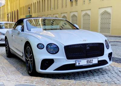 Bentley Continental GTC Convertible Price in Dubai - Luxury Car Hire Dubai - Bentley Rentals