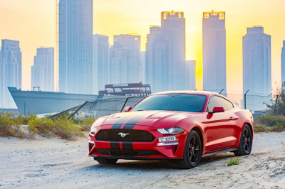 Ford Mustang Coupe V6 Price in Dubai - Sports Car Hire Dubai - Ford Rentals